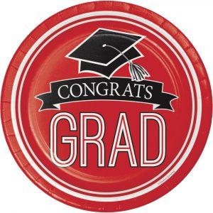 red graduation plates