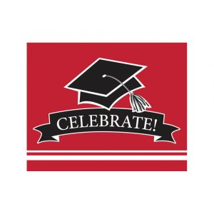 red graduation party invitations