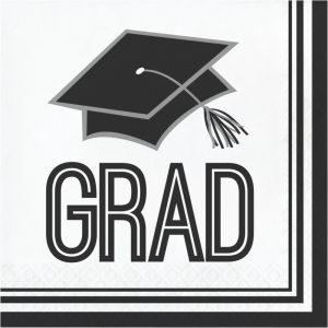 white graduation napkins
