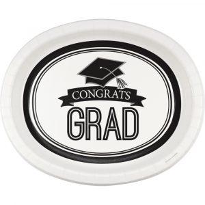 white graduation platters