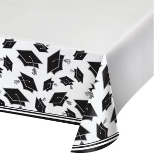 white graduation table cover
