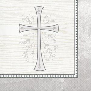 religious napkin silver