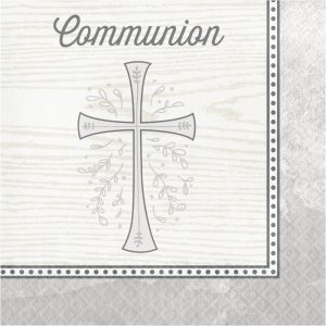 Divinity Silver Communion Lunch Napkins 192ct