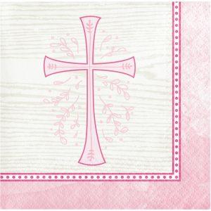 religious napkin pink