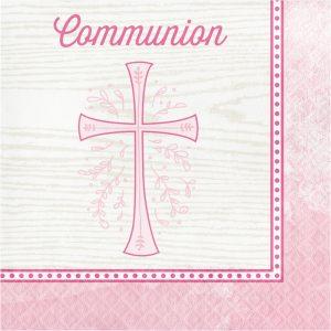 pink communion napkins