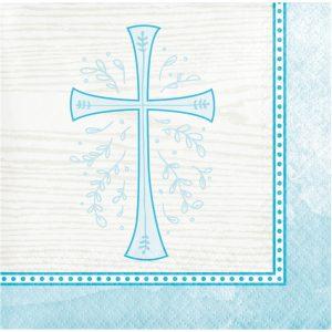 religious napkin blue