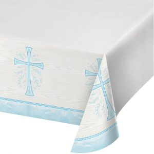 blue religious tablecovers