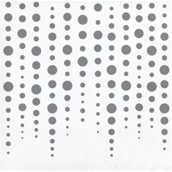 sparkle and shine silver beverage napkin