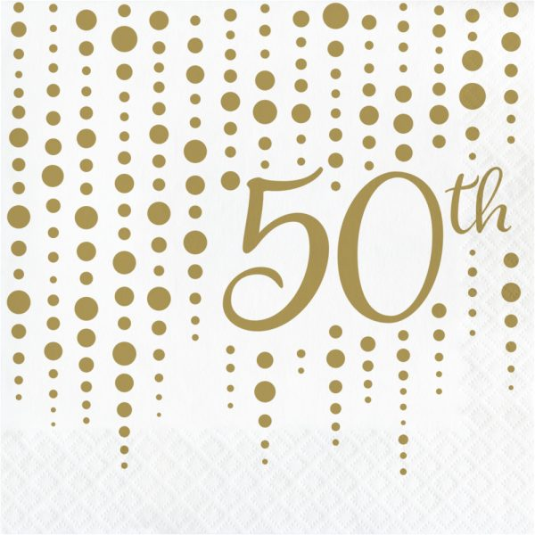 sparkle and shine 50th gold lunch napkin