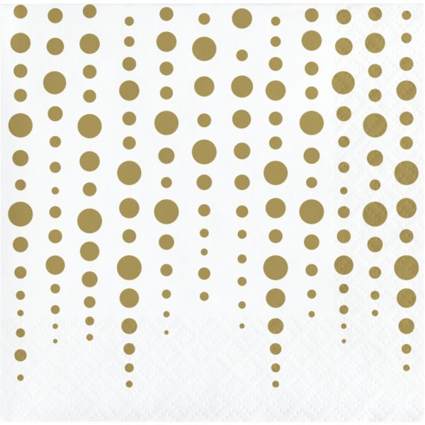 sparkle and shine gold beverage napkin