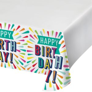 Birthday Burst Tablecovers 6ct