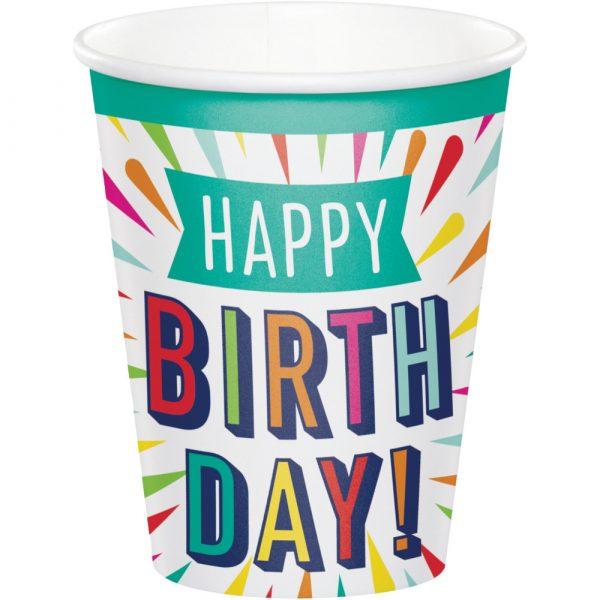 Birthday Burst Hot/Cold Cups 96ct