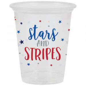 stars and stripes plastic cups