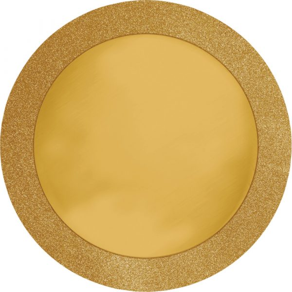 gold glitter border placemat