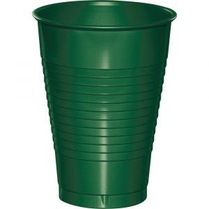 hunter green 12 oz plastic cup