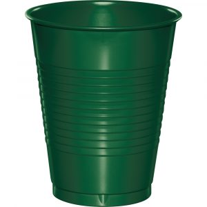 hunter green 16 oz plastic cup