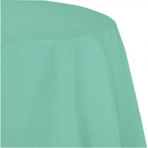 mint green polylined round tablecover