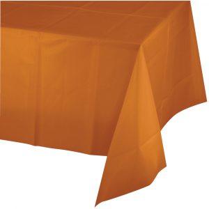 pumpkin spice polylined rectangular tablecover