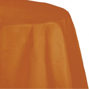 pumpkin spice polylined round tablecover