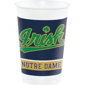Notre Dame Plastic Cups