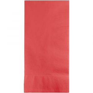 Coral Dinner Napkins 2Ply 1/8Fld 600 Ct