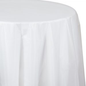 clear round tablecover