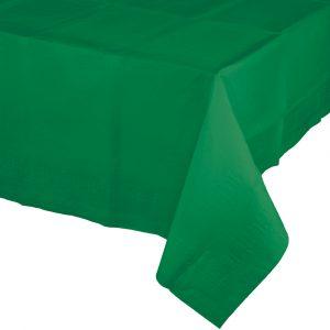 emerald green rectangular polylined tablecover