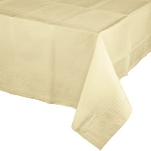 ivory rectangular polylined tablecover