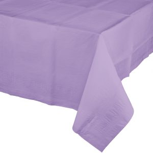 lavender rectangular polylined tablecover