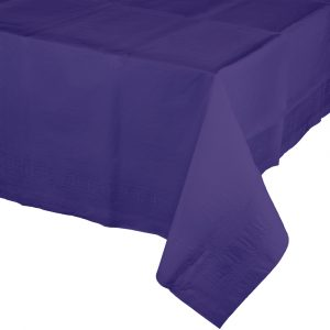 purple polylined rectangular tablecover