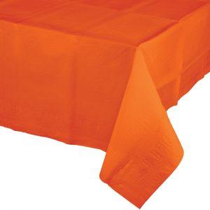 orange polylined rectangular tablecover
