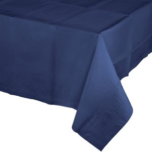 navy polylined rectangular tablecover