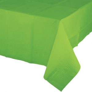 lime green polylined rectangular tablecover