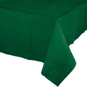 hunter green rectangular polylined tablecover