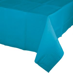turquoise polylined rectangular tablecover