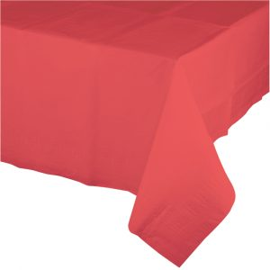 coral rectangular polylined tablecover