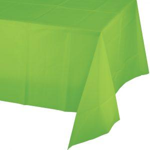 lime green plastic rectangular tablecover