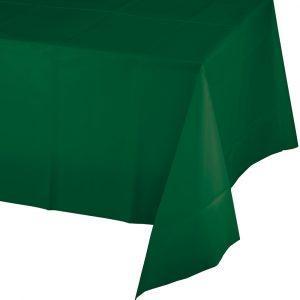hunter green rectangular plastic tablecover