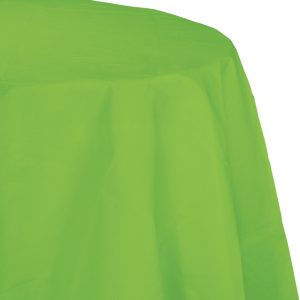 lime green polylined round tablecover
