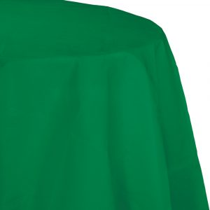emerald green round polylined tablecover