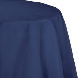 navy polylined round tablecover