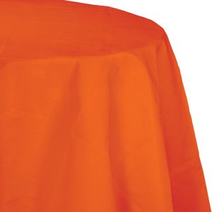 orange polylined round tablecover